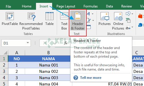 Cara Membuat Header Di Microsoft Excel