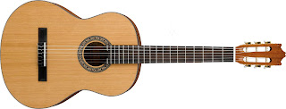 image of a classical guitar with correct guitar strings