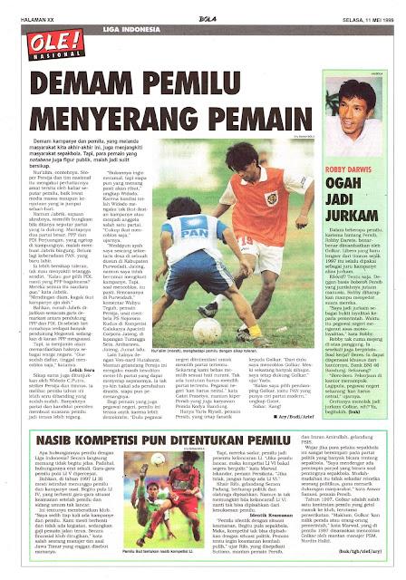DEMAM PEMILU MENYERANG PEMAIN LIGA INDONESIA