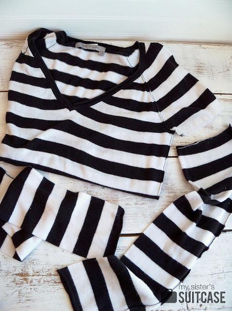 striped sweater socks