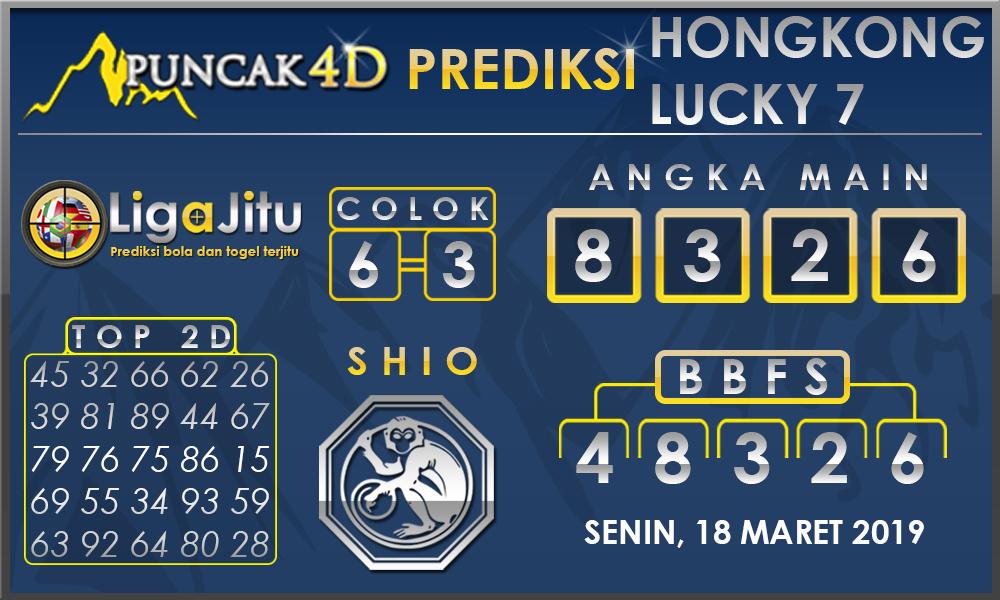 PREDIKSI TOGEL HONGKONG LUCKY7 PUNCAK4D 18 MARET 2019
