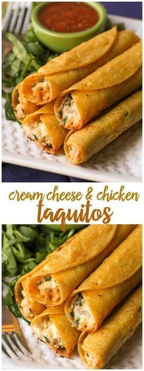 Cream Cheese And Chícken Taquítos