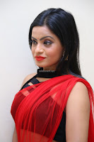 Aasma Syed in Red Saree Sleeveless Black Choli Spicy Pics ~  Exclusive Celebrities Galleries 011.jpg