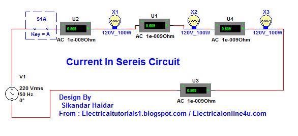 Current In A Series Circuit Complete Guide In Urdu  U0026 Hindi