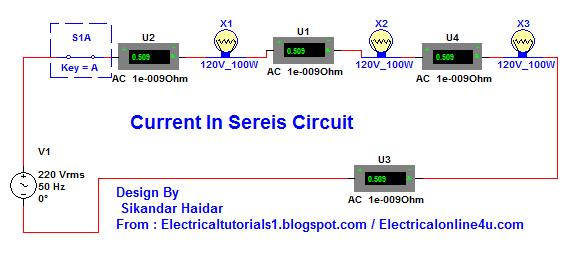 Current in a series circuit complete guide in urdu hindi video series circuit explanation video tutorial in urdu hindi ccuart Gallery