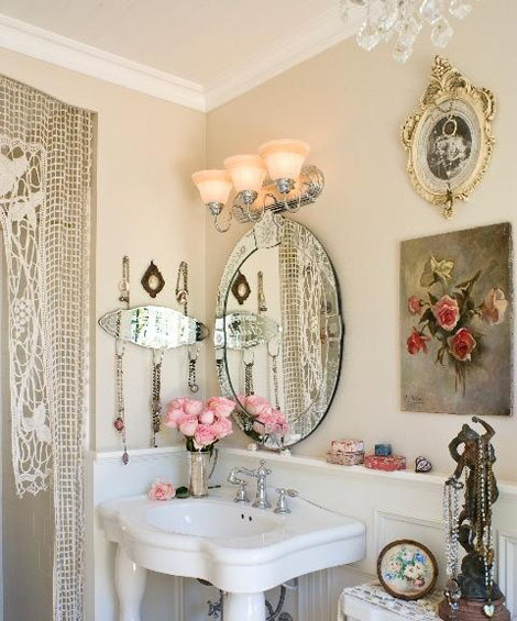 Shabby Chic Bathrooms: Shabby Chic Decor {1}