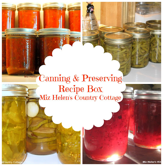 Canning and Preserving Recipe Box at Miz Helen's Country Cottage