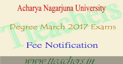 Nagarjuna University degree time table 2017 anu ug 1st 2nd final year exam dates
