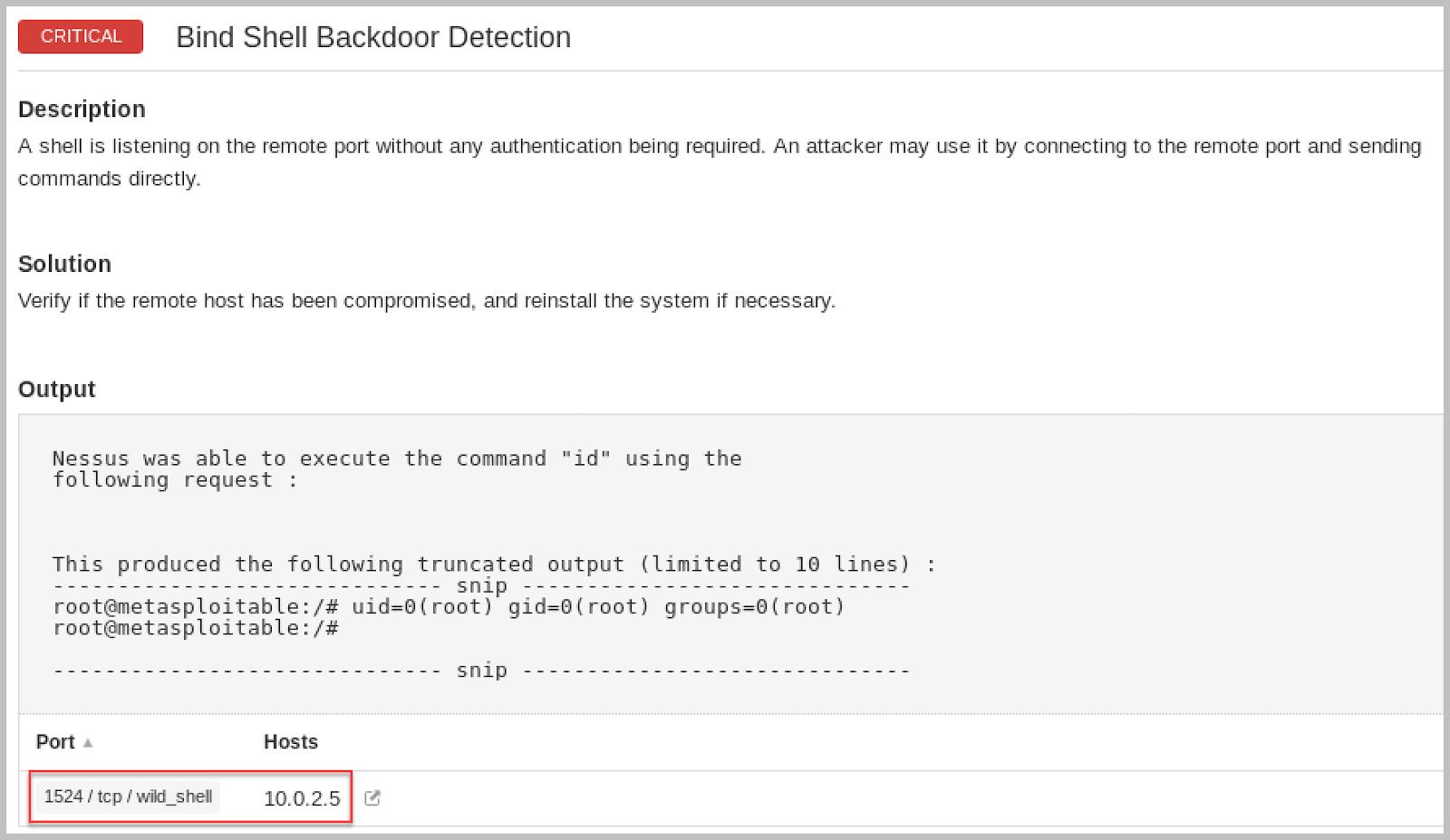 Metasploitable 2] Method #3: Bind Shell Backdoor