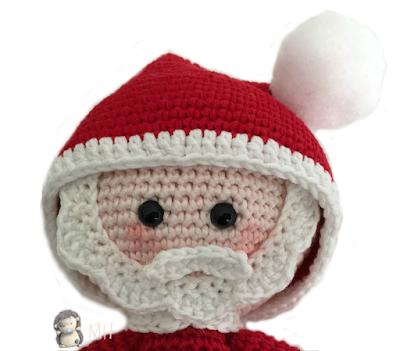 Papa Noel amigurumi