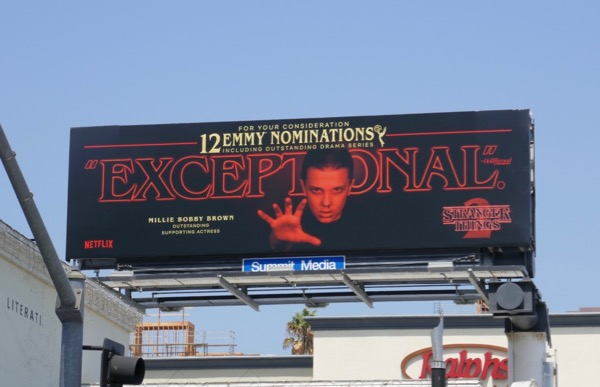Millie Bobby Brown Stranger Things 2 Emmy billboard