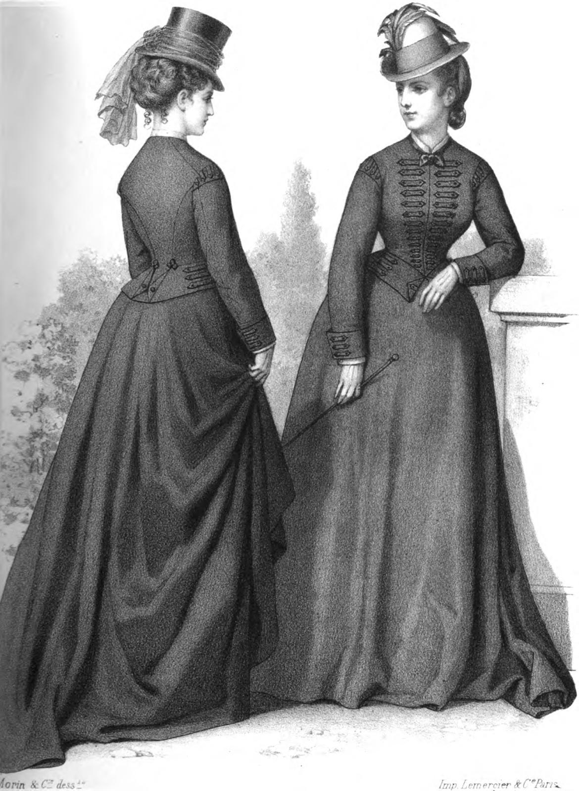 Womens Fashion Clothing: 19th Century Historical Tidbits: 1873 Fashions
