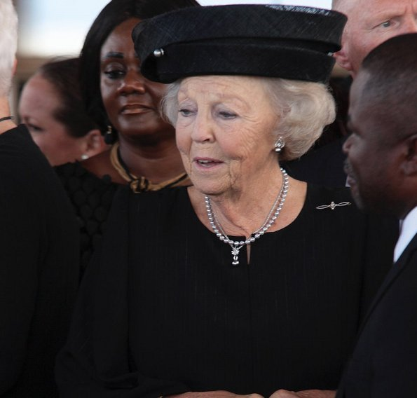 Crown Princess Mette-Marit of Norway, Dutch Princess Beatrix and Princess Mabel attended the funeral of Kofi Annan