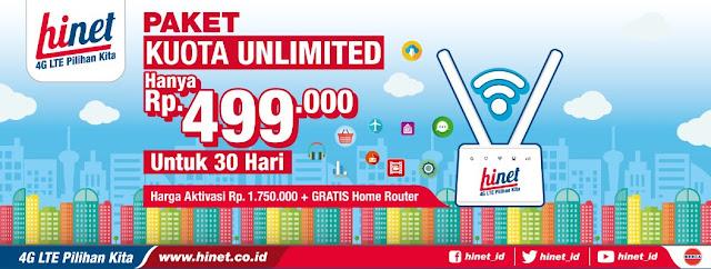 Hinet Sediakan Paket Internet Cocok Untuk Rumahan, Harga Murah dan Unlimited