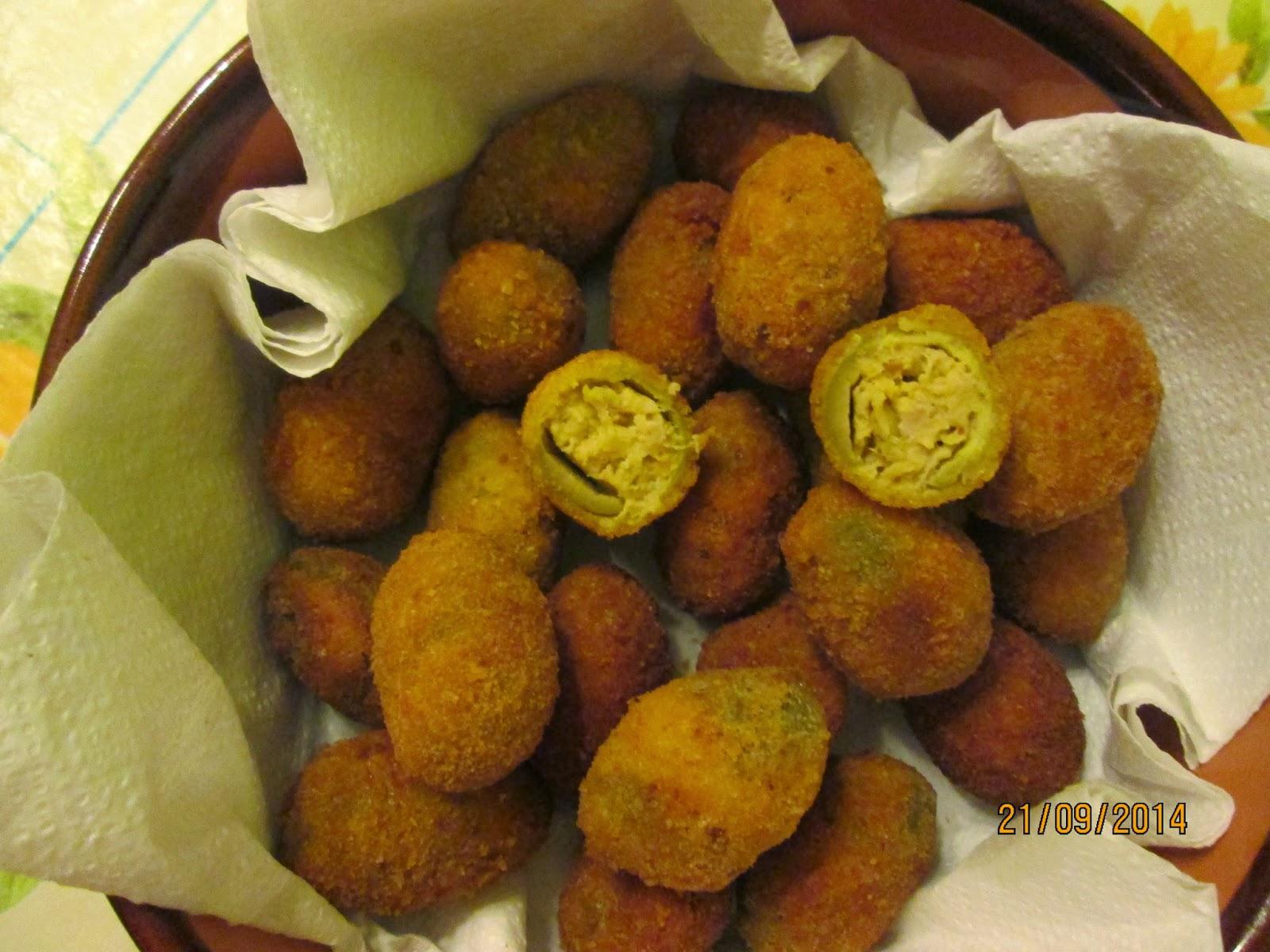 Olive all'ascolana (azeitonas recheadas)