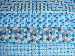Kombinácia bavlnenych latok retro modrá mentol