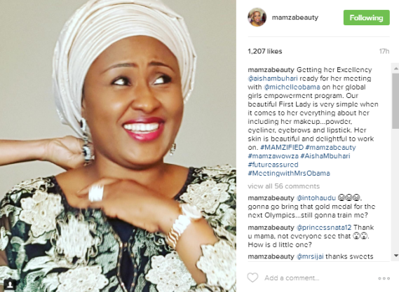 Is anything wrong with Aisha Buhari flying her makeup artist with her to the US for the UN General meeting?