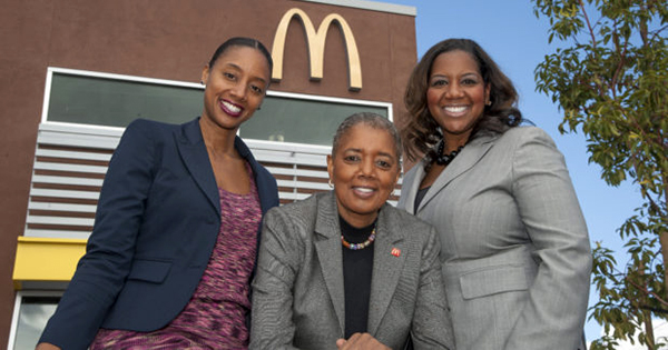 Three black women owners of 13 McDonald's franchises