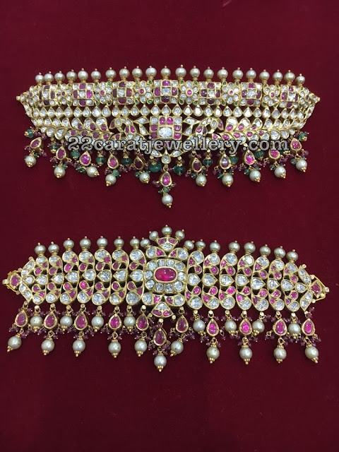 Polki Kundan Choker with Pearls
