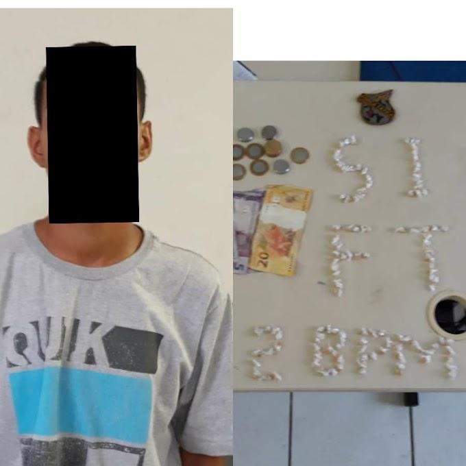 CASO DE POLÍCIA - Menor de idade é apreendido com 122 pedras de Crack em Caxias