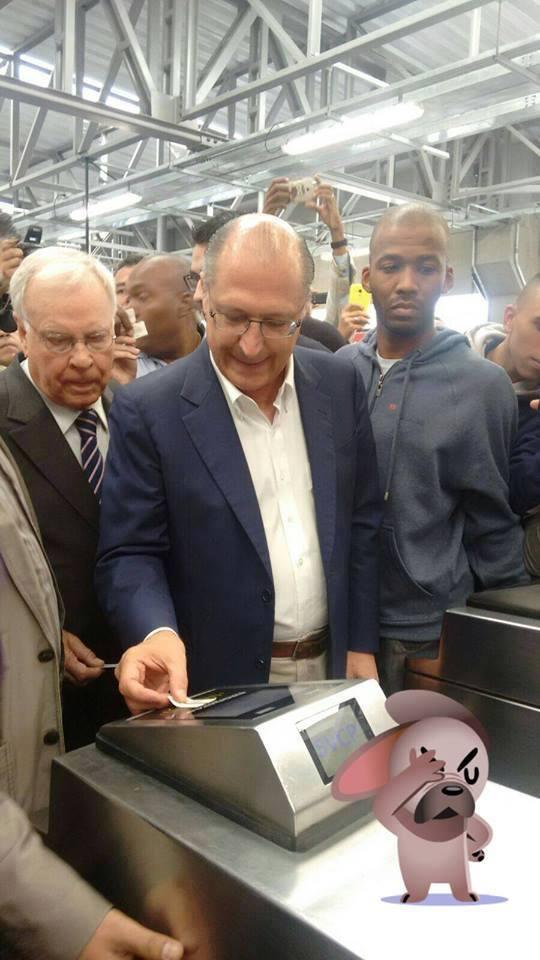 Resultado de imagem para alckmin no metrô