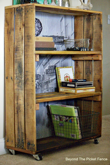 favorite things, year in review, rustic, industrial, bookshelf, pallets, how to, DIY black and white photo, http://bec4-beyondthepicketfence.blogspot.com/2015/12/these-are-few-of-my-favorite-things.html