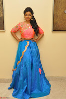 Nithya Shetty in Orange Choli at Kalamandir Foundation 7th anniversary Celebrations ~  Actress Galleries 017.JPG