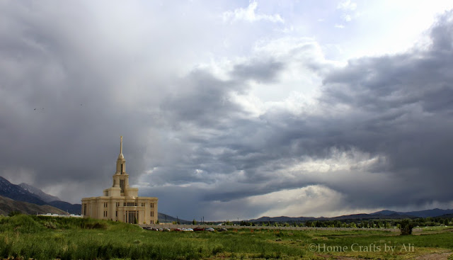 LDS Temple Payson Utah Landscape