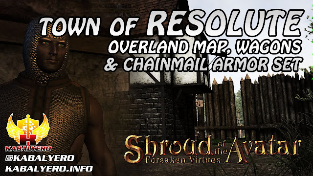 Town Of Resolute ★ Overland Map, Wagons & New Chainmail Armor ★ Shroud of the Avatar