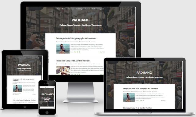 Padhang Responsive Blogger Templates