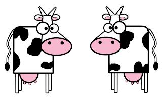 Dibujo, arte y vacas.