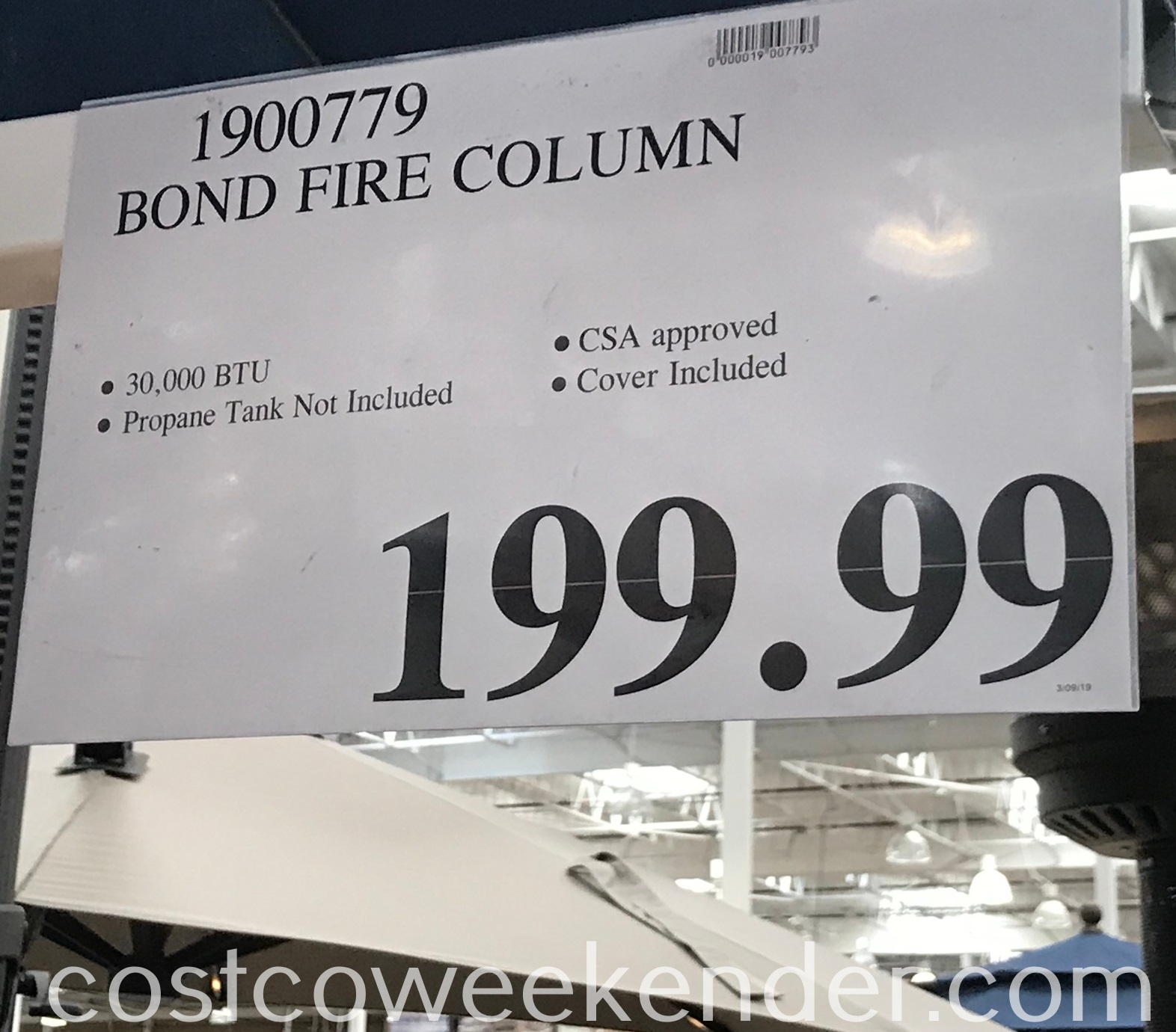 Deal for the Bond Gas Fire Column at Costco