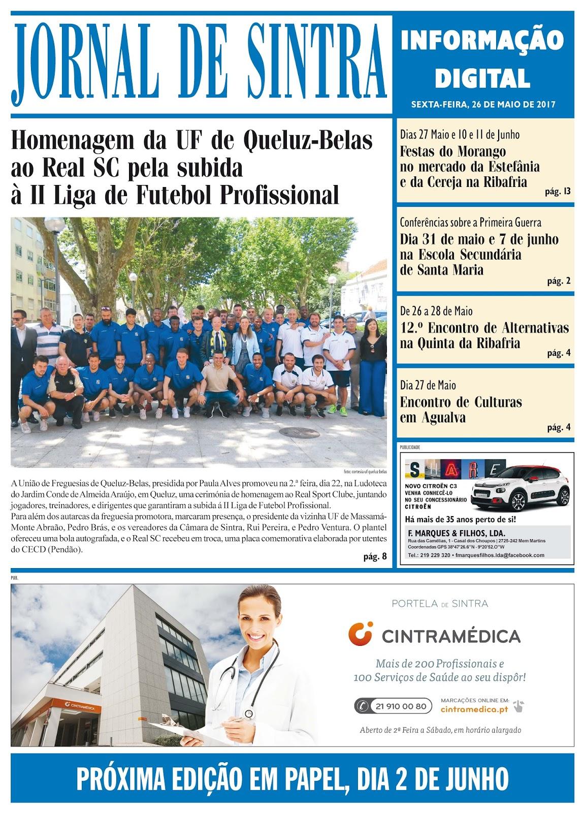 Capa da edição de 26-05-2017