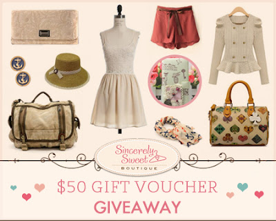 $50 Sincerely Sweet Boutique Gift Card Giveaway