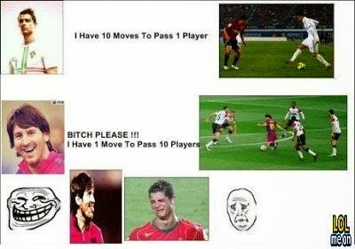 Messi vs Ronaldo - funny sport picture