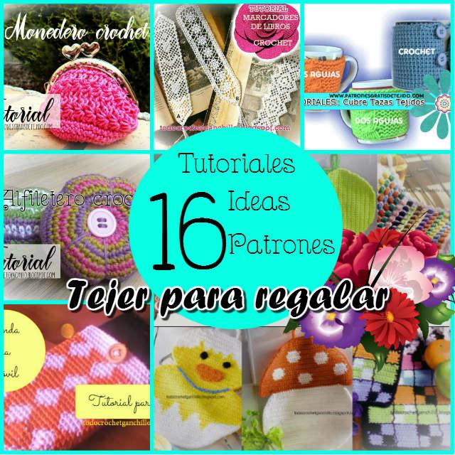 16 proyectos, tutoriales y patrones para tejer regalos