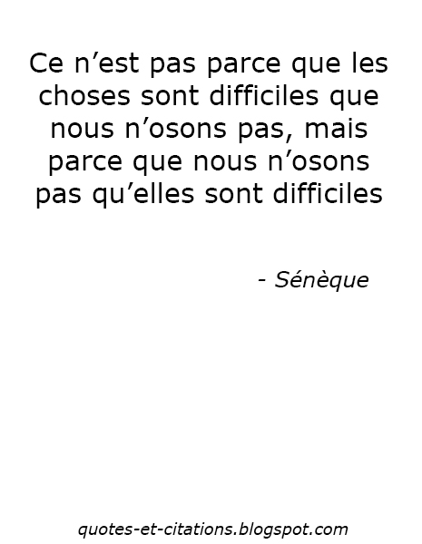 Citation La difficulté