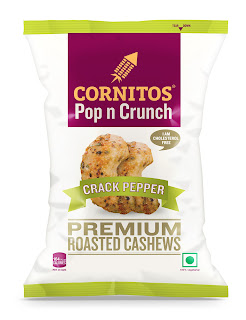 Cornitos launches 30g Pack of Roasted Premium Cashews in Crack Pepper flavor