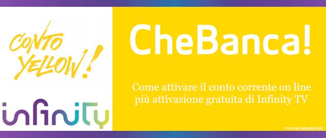 Infinity gratis con CheBanca: come attivare il conto