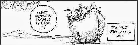 Funny Noah's Ark Cartoon Picture - I can't believe you actually fell for it - the first April Fool's day