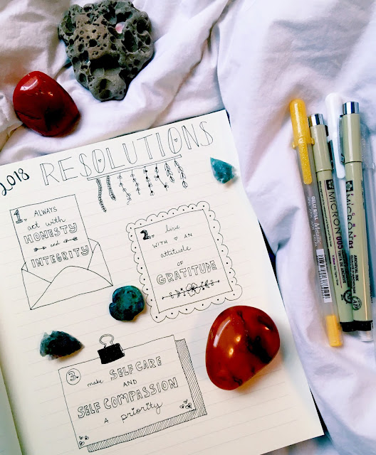 New Years Resolutions, 2018, Lauren Banawa, bullet journal