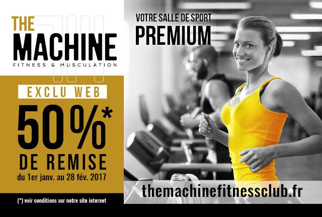 Exclu Web moins 50% sur abonnement Salle Fitness