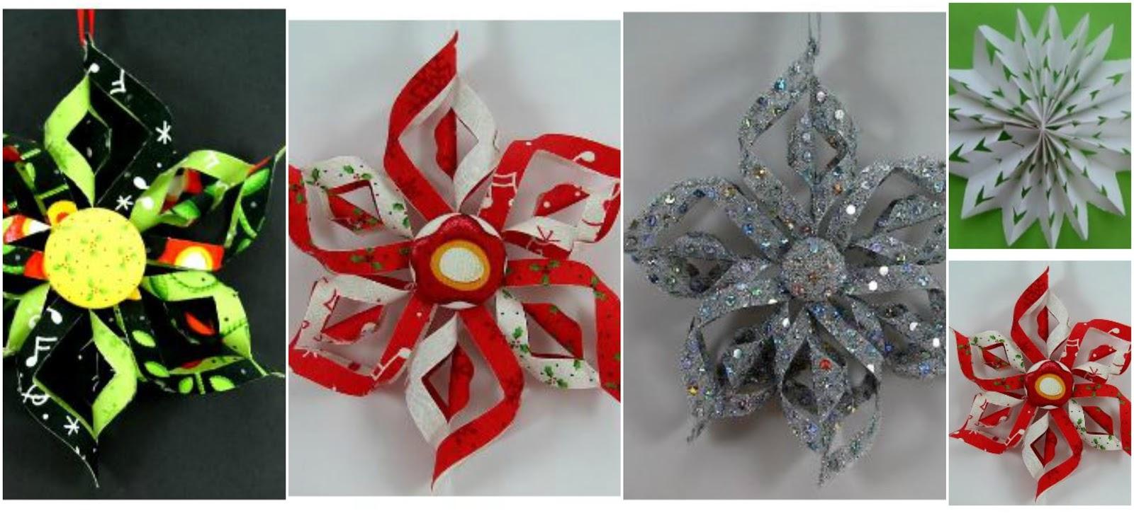 Haz lindos adornos de papel y foami para esta navidad - Decoracion navidad papel ...