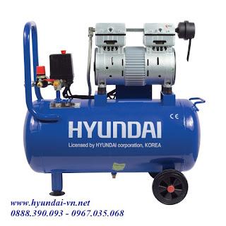 máy nén khí mini, máy bơm hơi không  dầu AH1-25, máy bơm hơi mini, máy bơm hơi Hyundai