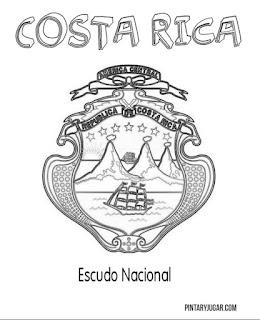 Escudo Nacional de Costa Rica para coloroear
