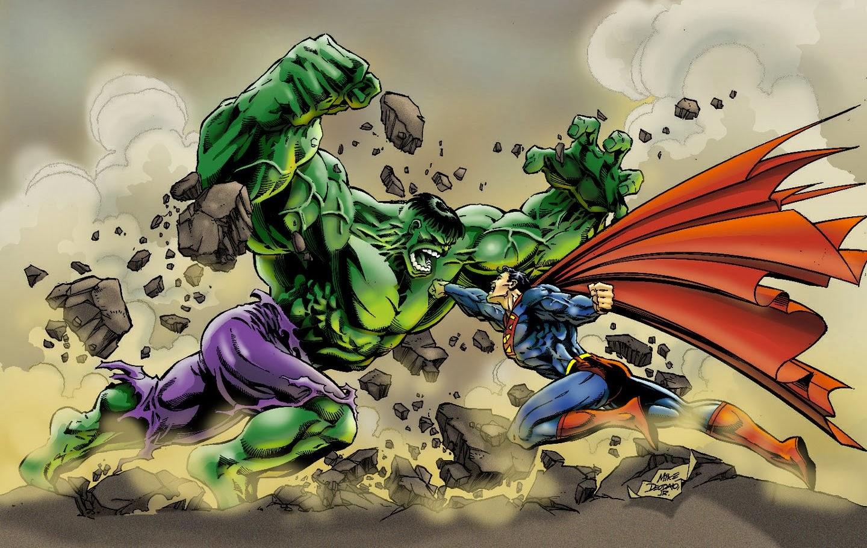Hulk y Superman se enfrentan