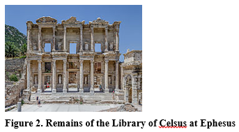 Figure 2. Remains of the Library of Celsus at Ephesus