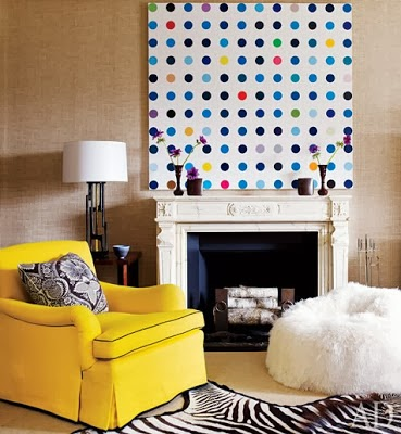 how to use oversized art in your home decor damien hirst art