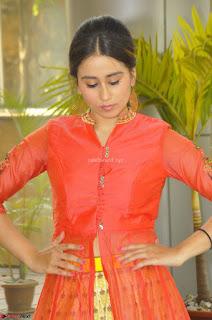 Simrat in Orange Anarkali Dress 19.JPG