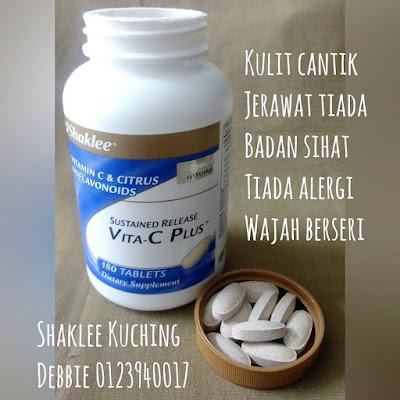 Ambil 1 biji Sustained Release Vita-C Plus sehari untuk kulit cantik sihat